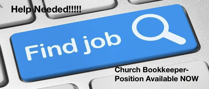 Church Bookkeeper POSITION AVAILABLE