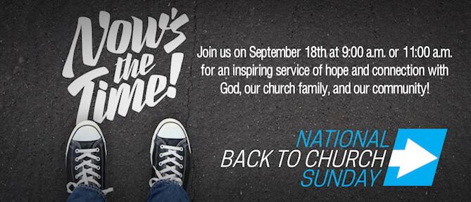 National Back to Church Sunday 2016