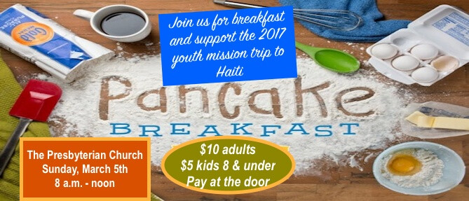 Pancake Breakfast for Haiti