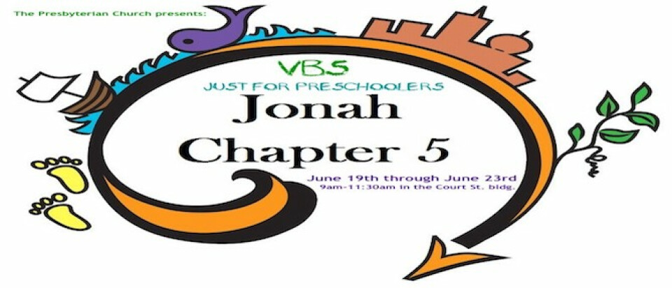 VBS JONAH CHAPTER 5 - JUST FOR PRESCHOOLERS