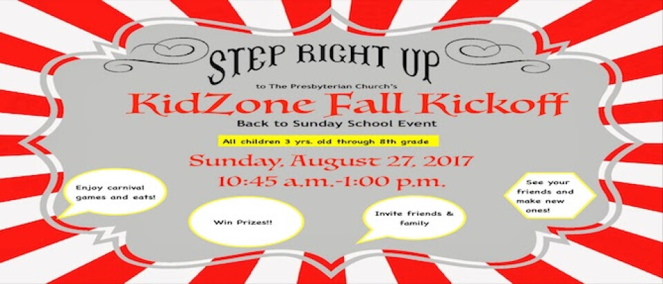 KidZone Fall Kickoff 2017