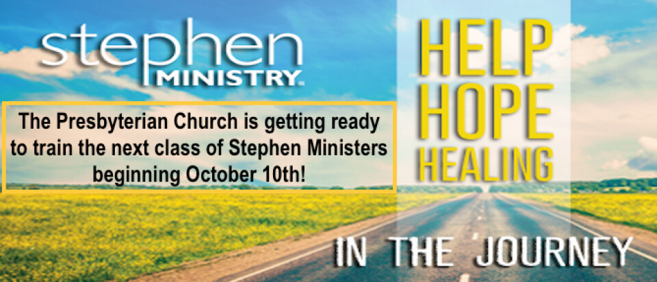 Stephen Ministry Class 2017-2018