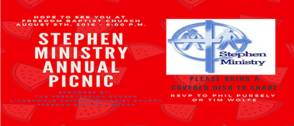 STEPHEN MINISTRY ANNUAL PICNIC 2018