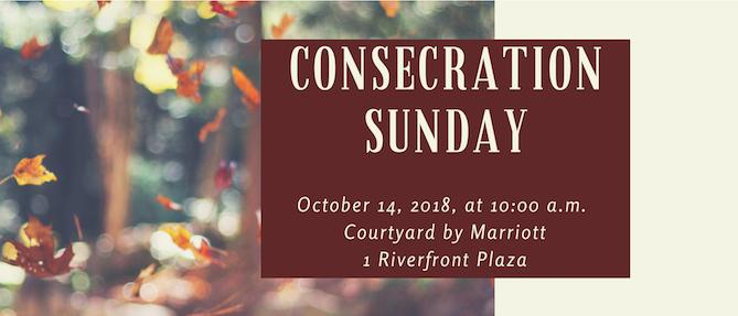 CONSECRATION SUNDAY 2018