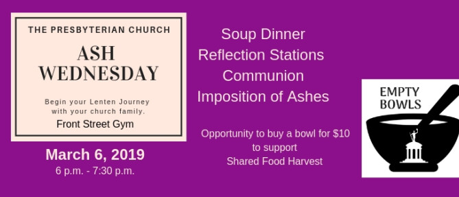 Ash Wednesday at The Presby