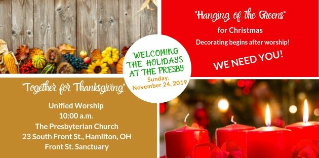 Together for Thanksgiving Service/Hanging of the Greens