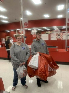 Ignite Youth shopping for Salvation Army at Christmas 2019